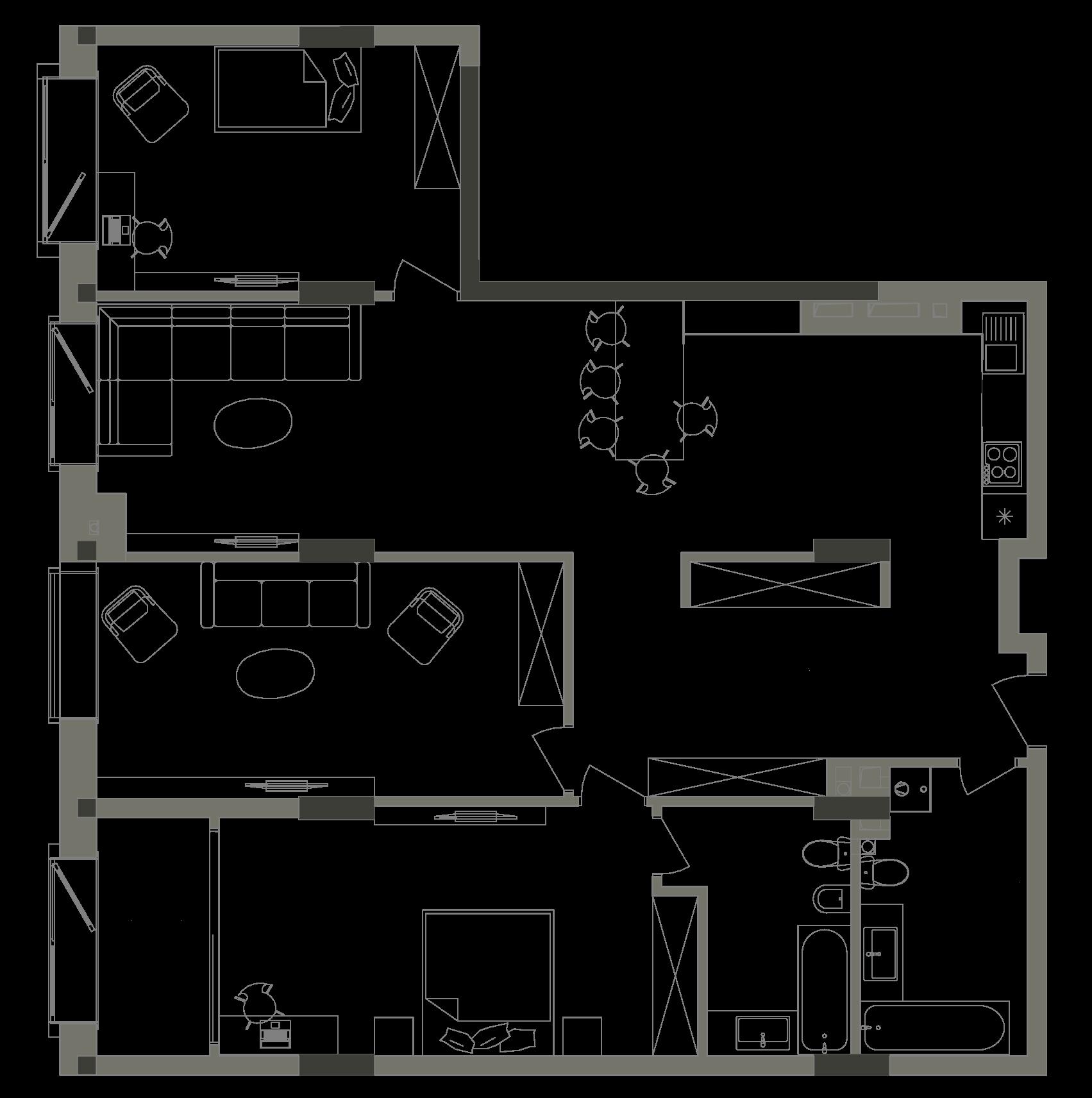 Квартира KV_12_3B_1_1_3