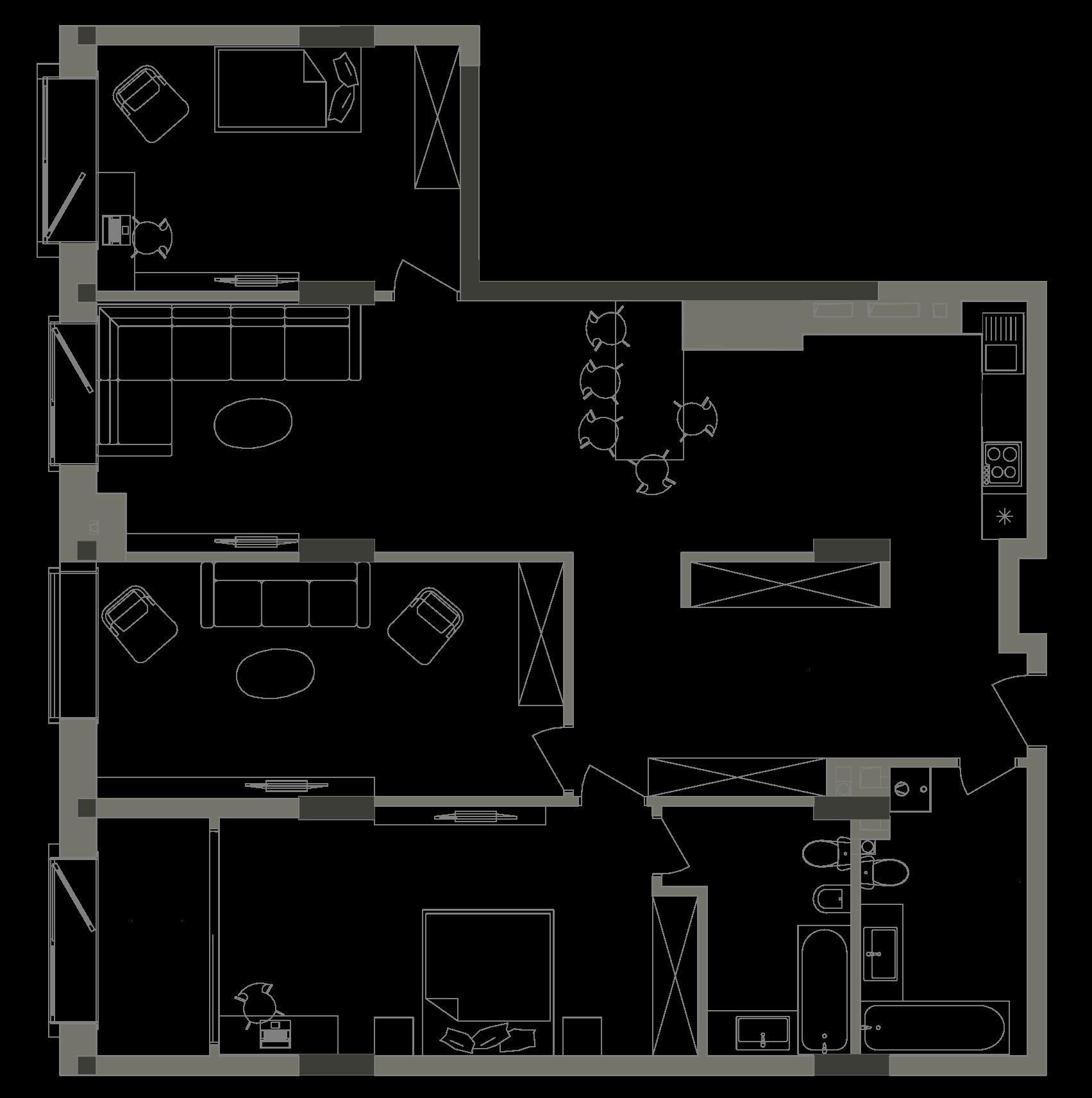 Квартира KV_27_3B_1_1_3