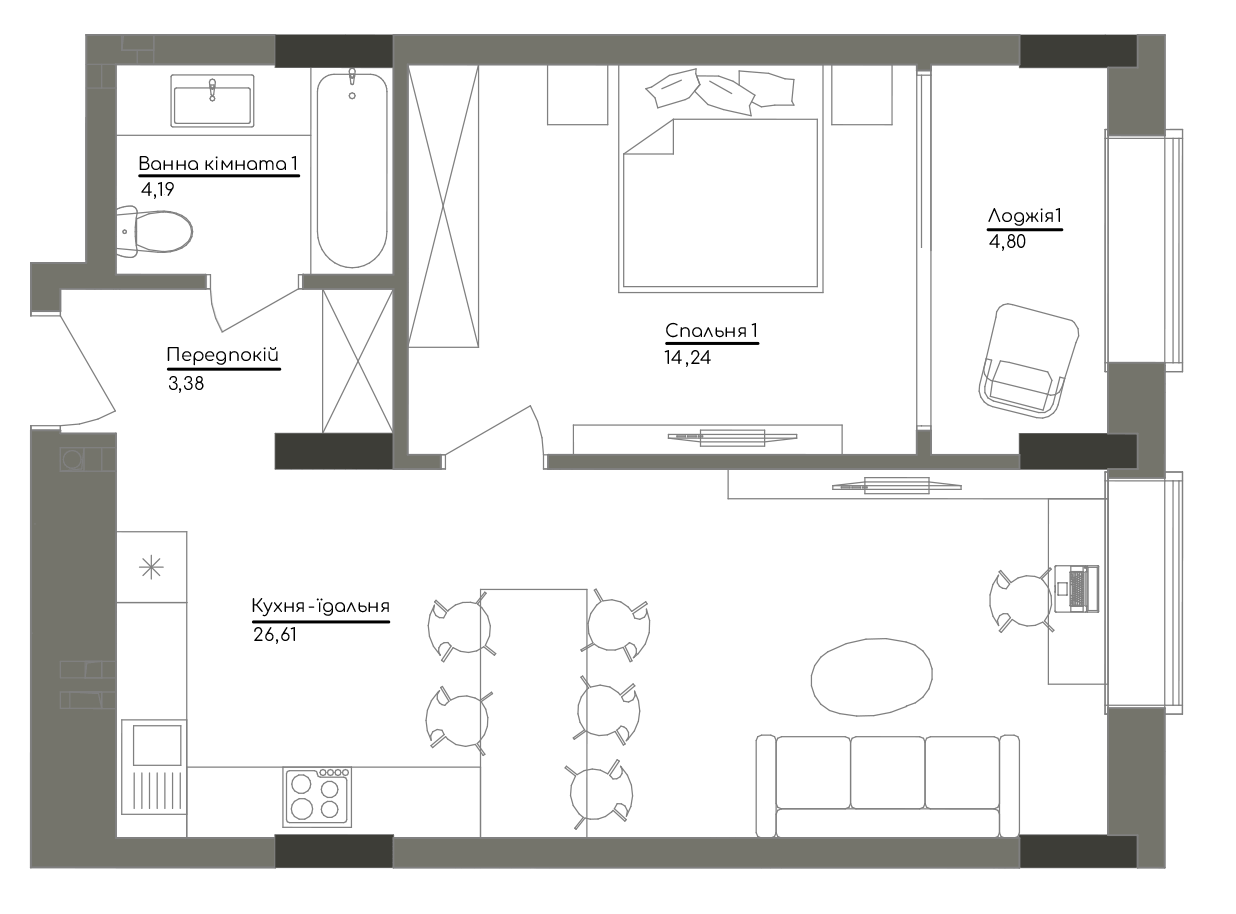 Квартира KV_39_1E_1_1_8