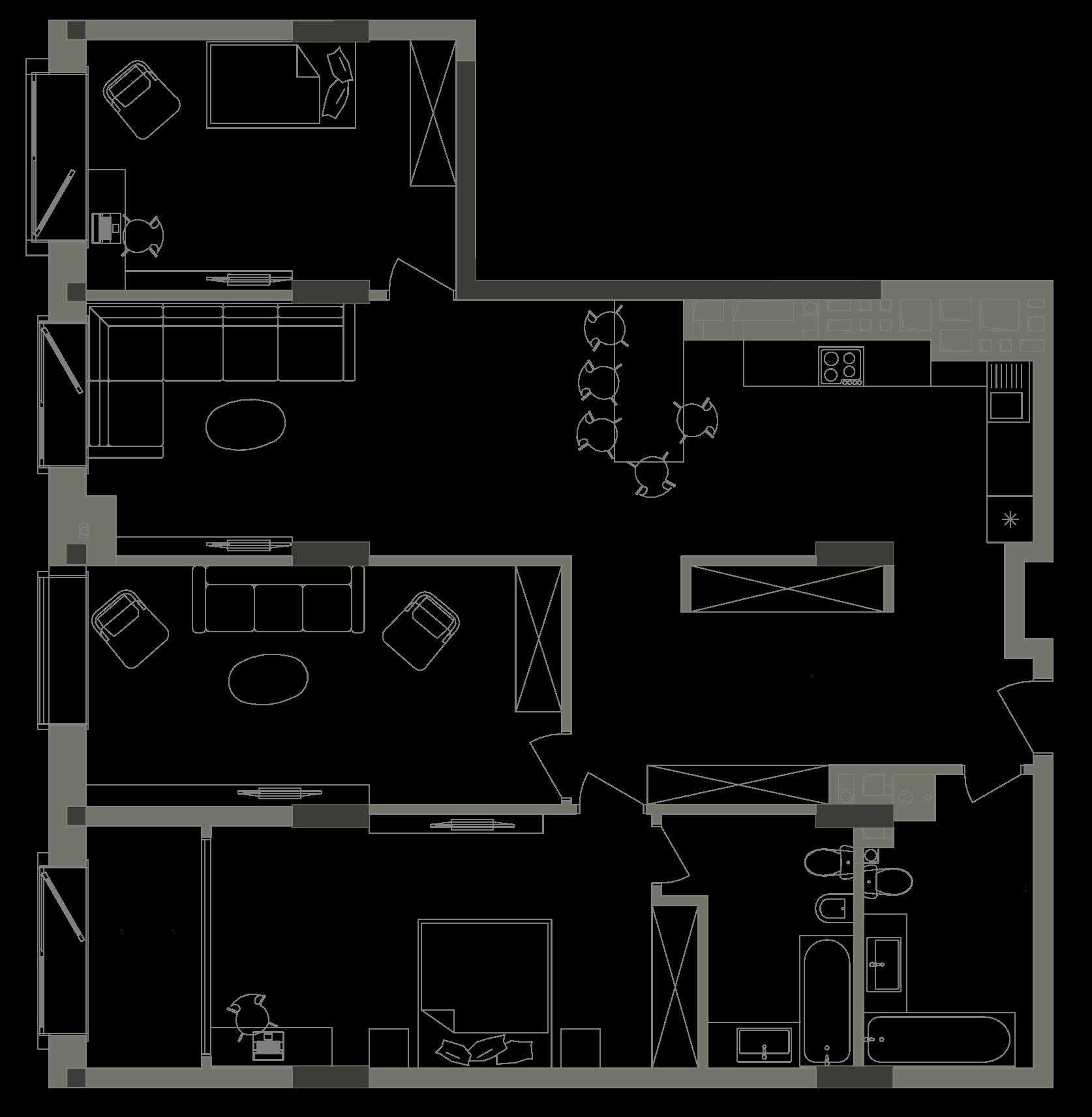 Квартира KV_3_3B_1_1_3