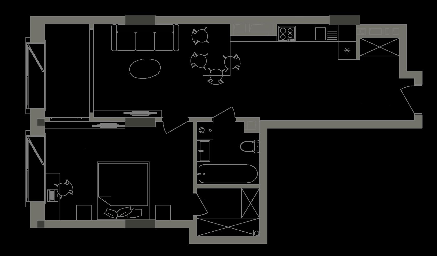 Квартира KV_42_1B_1_1_4