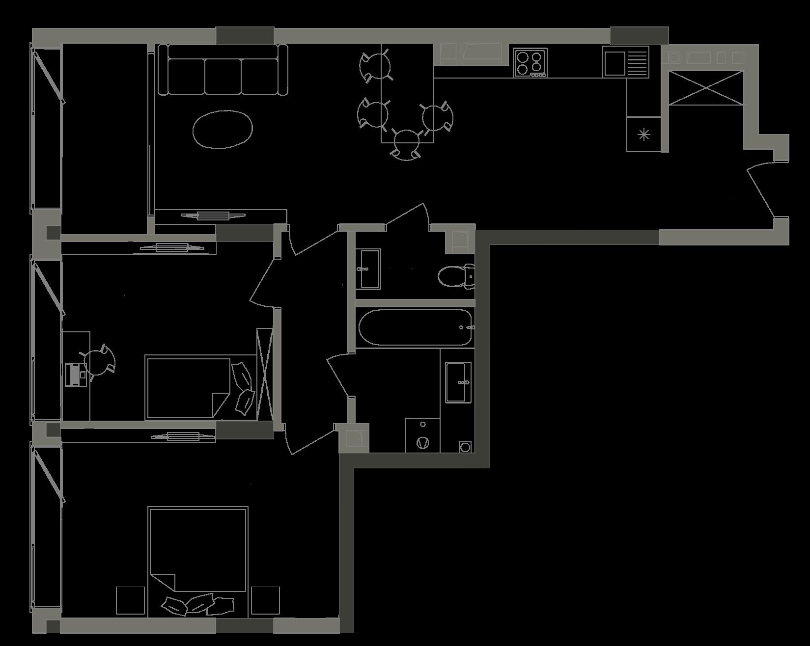 Квартира KV_72_2V_1_1_4
