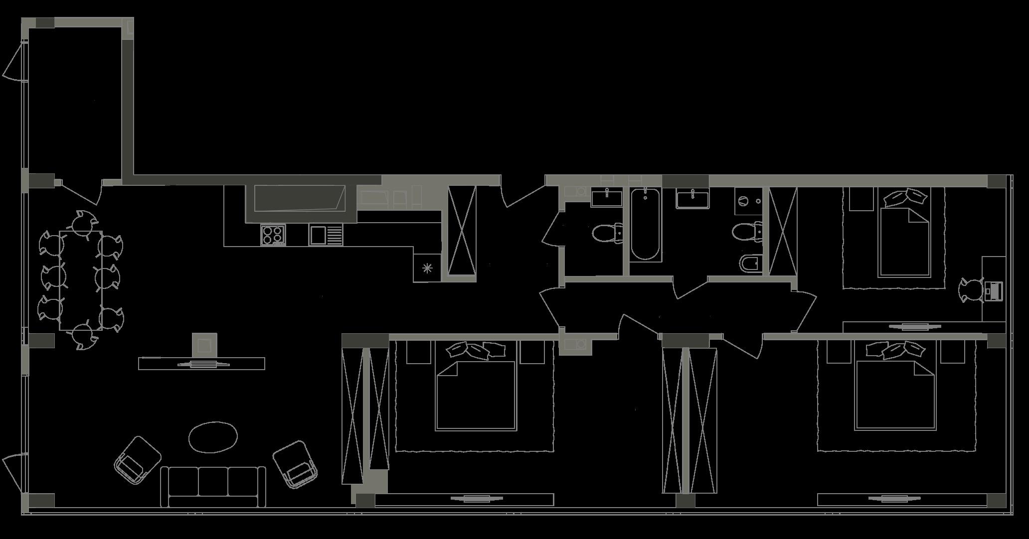 Квартира KV_88_3P_1_1_3