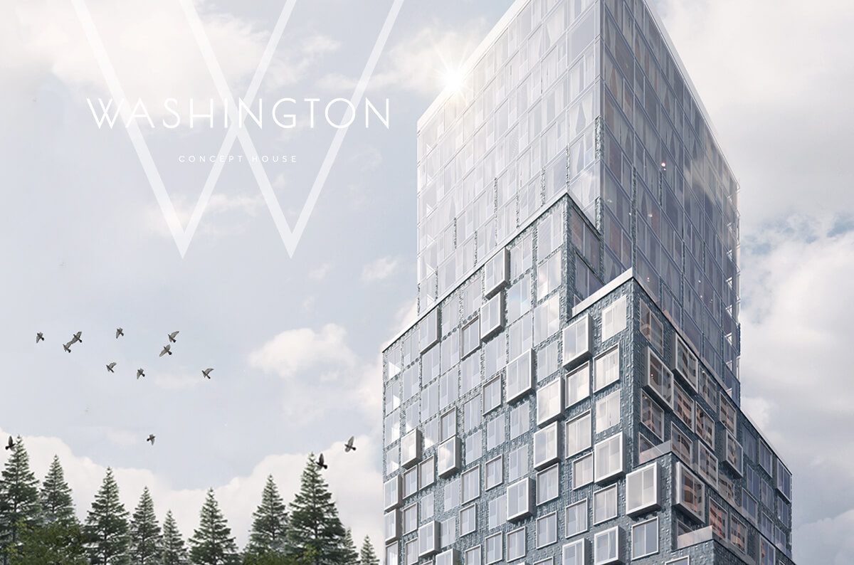 Buy an apartment without a rise in price for 12 months - WASHINGTON Concept House